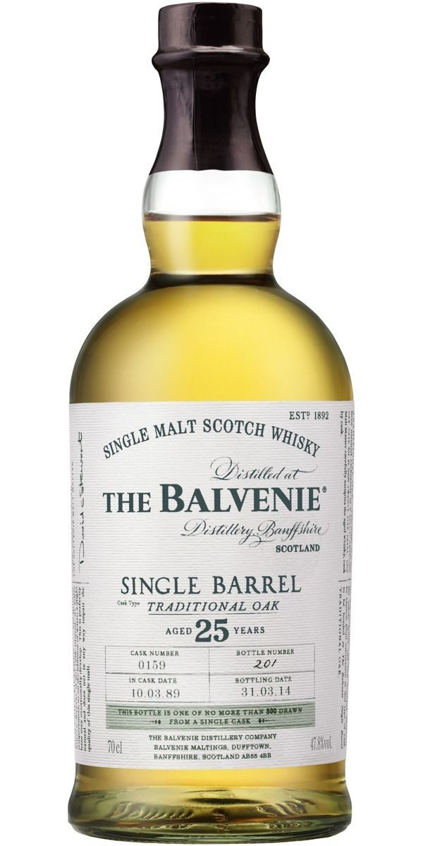 Balvenie Single Barrel 25 YO, Cask 514, 1990/2015 FL 70