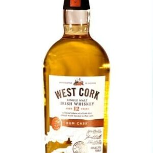 West Cork 12 YO Rum Cask Irish Single Malt FL 70